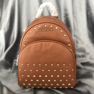 Michael Kors Studded Abbey Leather Backpack